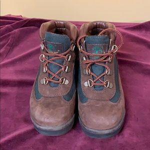 Timberlands Brown /Green boys size 1